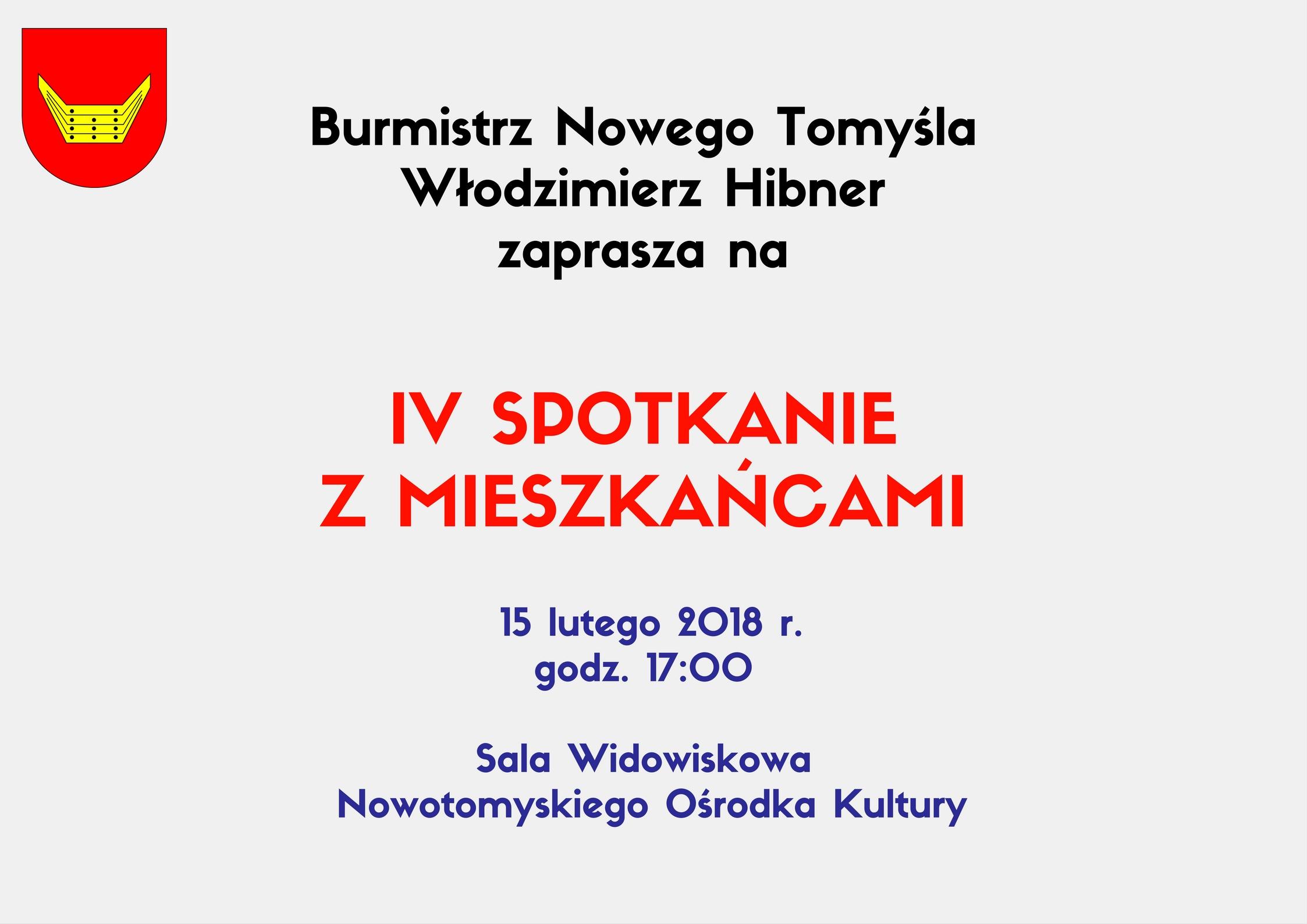 Spotkanie Burmistrza z mieszkańcami Nowego Tomyśla