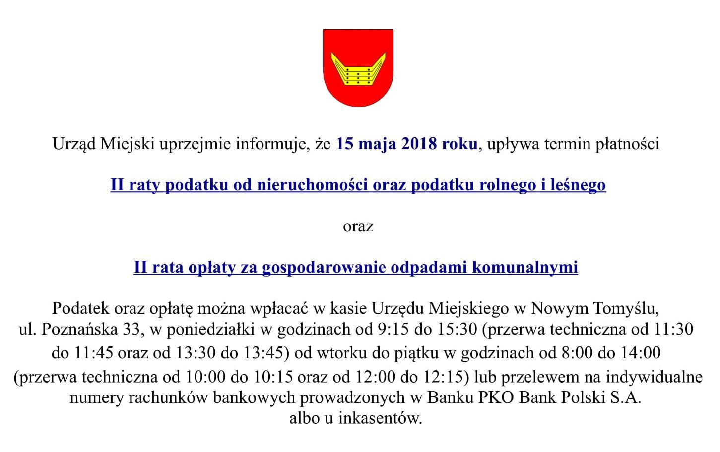 Informacja dla podatników