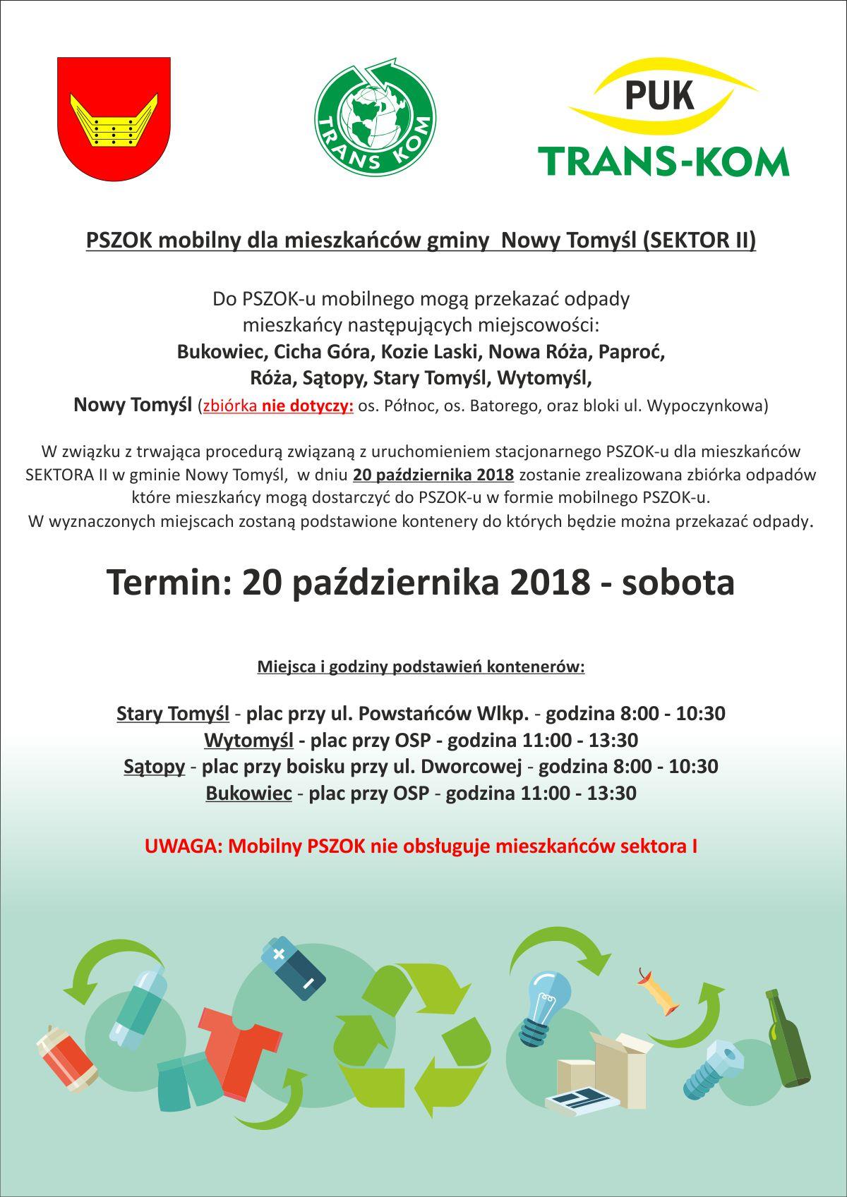 PSZOK mobilny dla mieszkańców sektora II