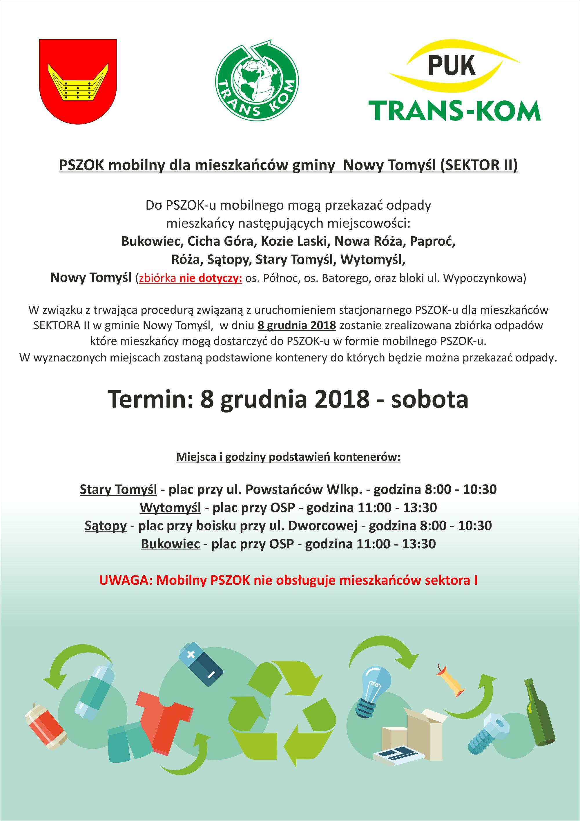 PSZOK mobilny dla mieszkańców gminy