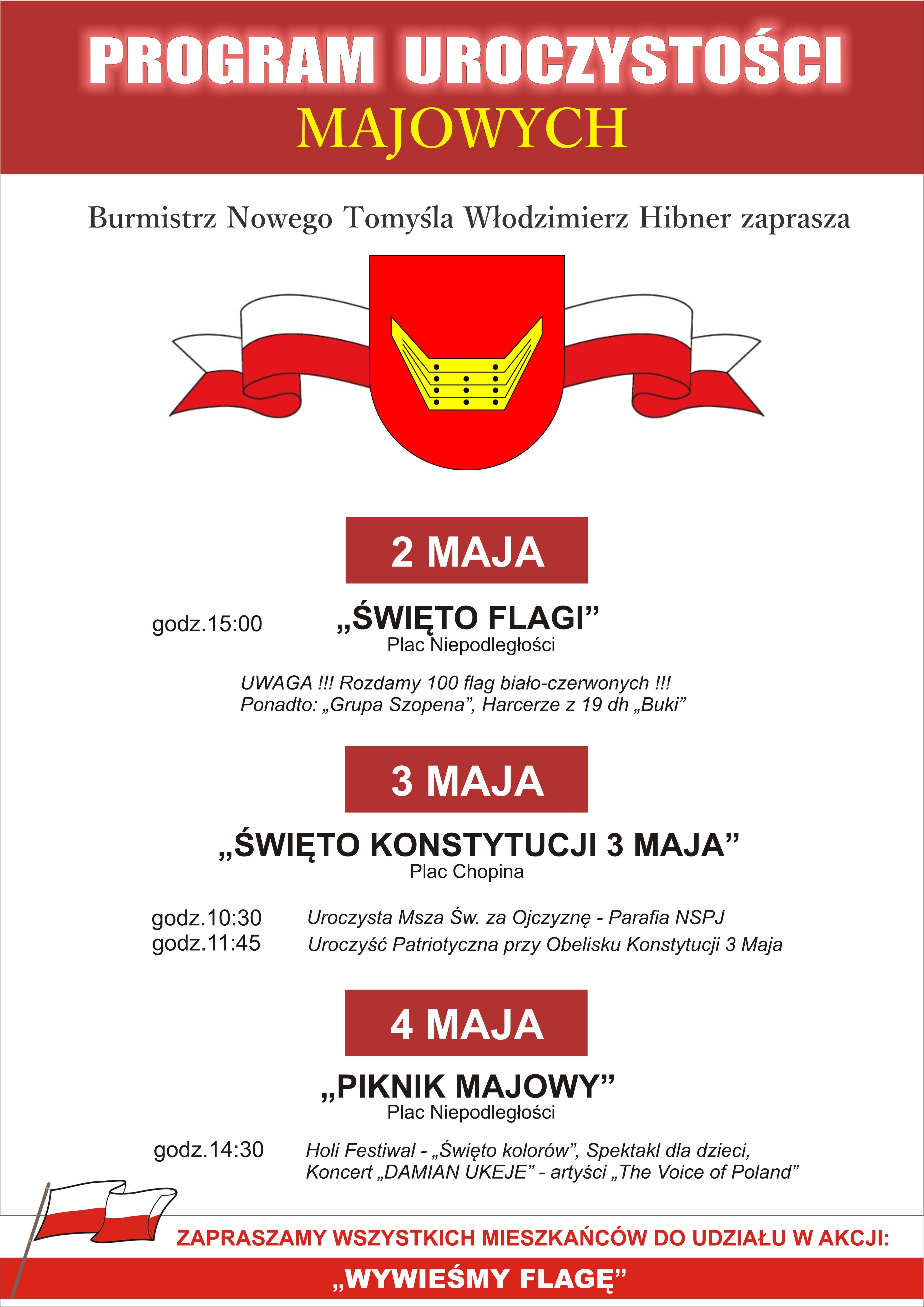 Program uroczystości majowych
