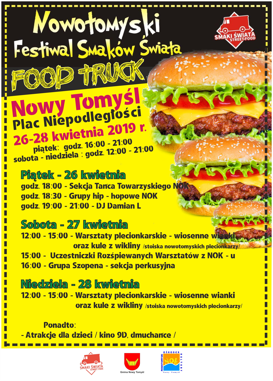 Serdecznie zapraszamy na Nowotomyski Festiwal Smaków Świata Food Truck