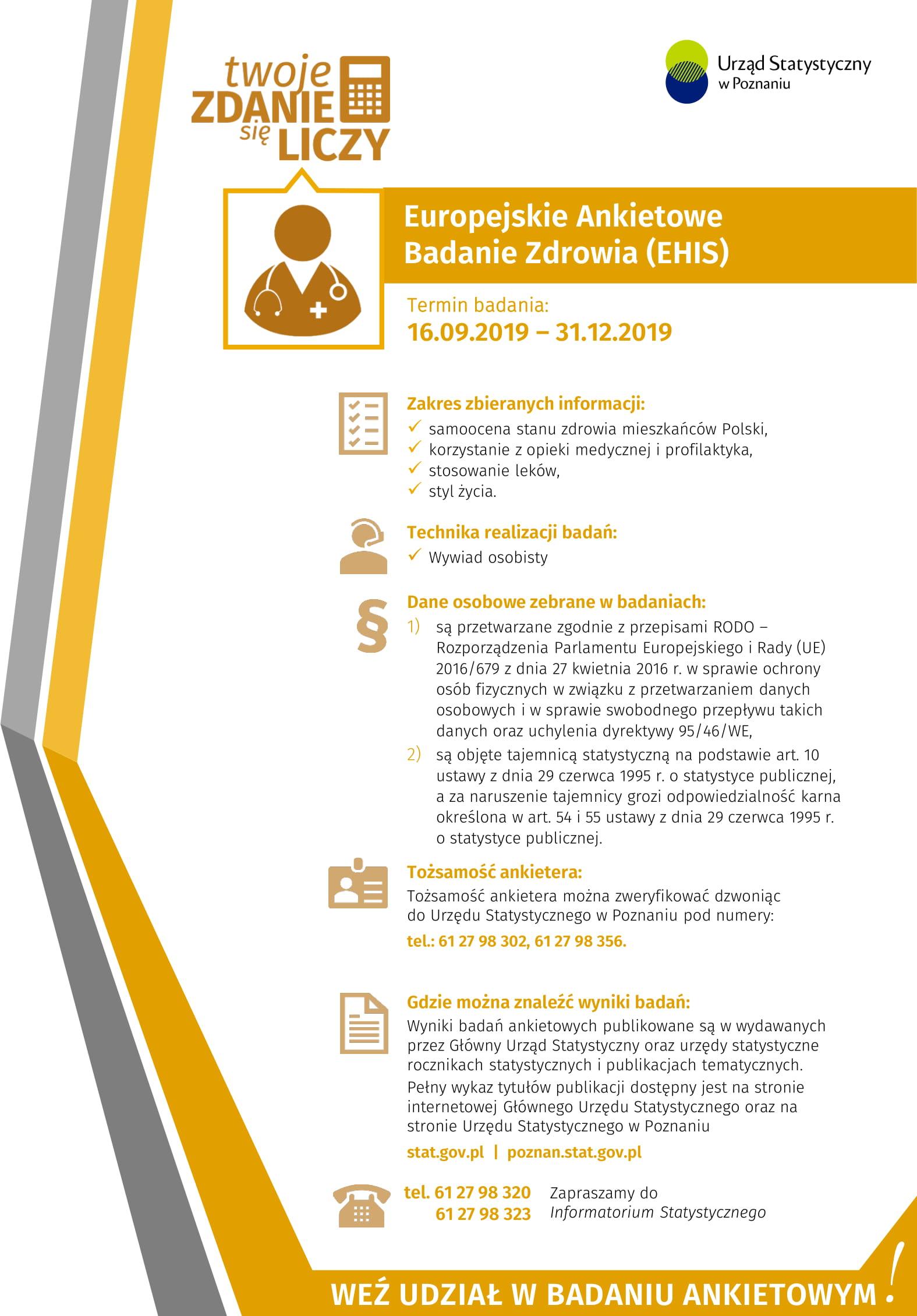 Europejskie Ankietowe Badanie Zdrowia (EHIS)