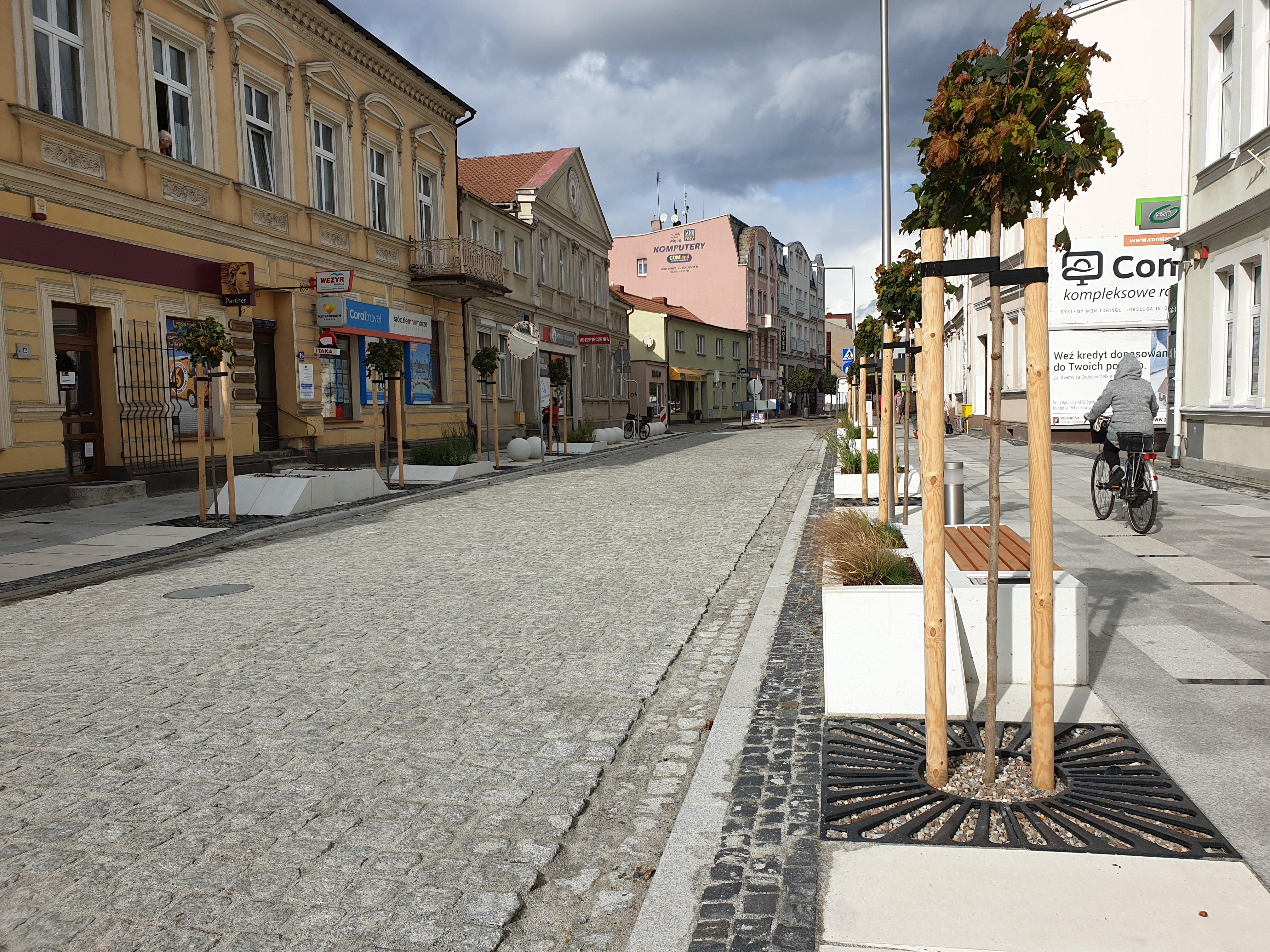Otwarta ulica Piłsudskiego