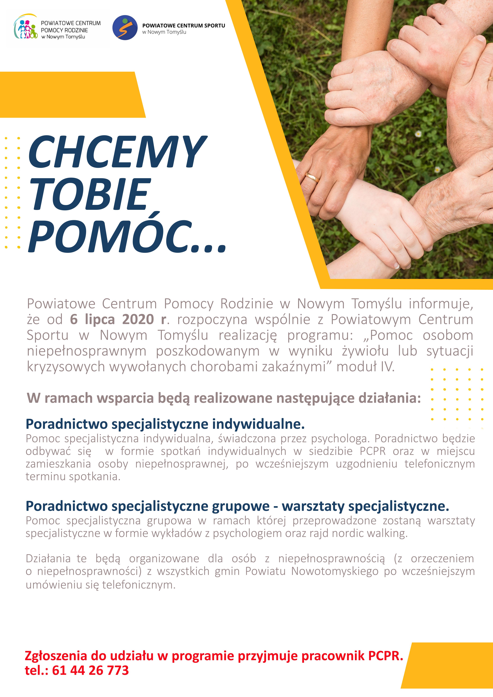 Chcemy Tobie pomóc…