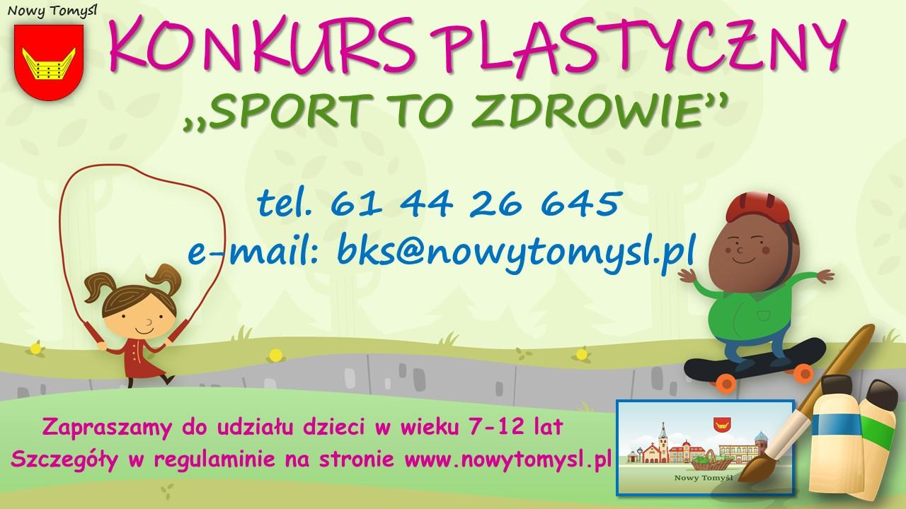 """Konkurs plastyczny          """"Sport to zdrowie"""""""