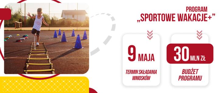 """Program """"Sportowe Wakacje +"""" – składanie wniosków do 9 maja"""
