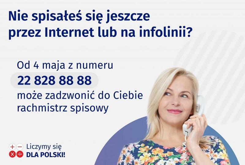 Od 4 maja br. pracę rozpoczynają rachmistrzowie telefoniczni