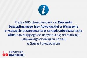 Informacja Rzecznika Prasowego Prezesa GUS
