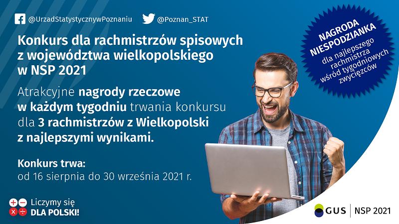 Konkurs dla rachmistrzów spisowych z województwa wielkopolskiego w NSP 2021