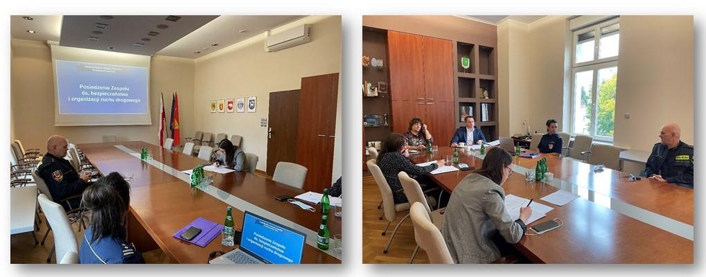 Posiedzenie Zespołu ds. bezpieczeństwa i organizacji ruchu drogowego